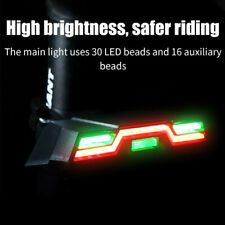Road Mountain Bike Rear Light Green Red Blue LED Power Back Lamp Rechargeable