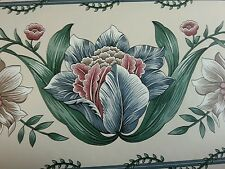 große blumen design vintage tapetenbordüre fashion point prepaste 4 rollen