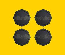 "Set of 4 Air Hockey Pucks - Black Octagon Pucks 2-1/2"" - 63mm Table Hockey Pucks"