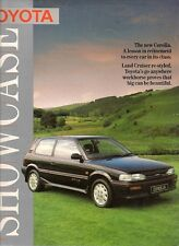 Toyota Starlet Corolla Tercel Carina Camry Celica MR2 Supra 1987-88 UK Brochure
