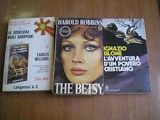3 romanzi  THE BETSY - LA SCOGLIERA DEGLI SCORPIONI - L'AVVENTURA DI UN POVERO C