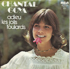 45TRS VINYL 7''/ FRENCH SP CHANTAL GOYA / ADIEU LES JOLIS FOULARDS