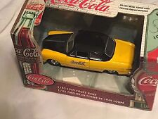 Coca-Cola 1/43 Scale Die Cast 1949 Coupe Coin Bank NIB