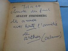 ARTHUR ADAMOV AUGUST STRINDBERG 1955 EO ENVOI Signé Illustré THEATRE ABSURDE