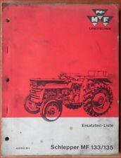 Massey Ferguson Trattori MF 133, MF 135 pezzi di ricambio elenco