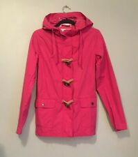 Fat Face Women's Hooded Cotton Nylon Parka Jacket Pink Size 8 Excellent Cond