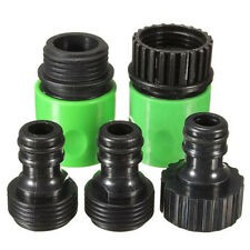 5pcs Set Garden Watering 3/4inch Hose Plastic Quick Fitting Connect Tap Adapter