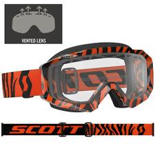 SCOTT MX Hustle Motocross Lunettes de protection noir / Orange Tiger avec double
