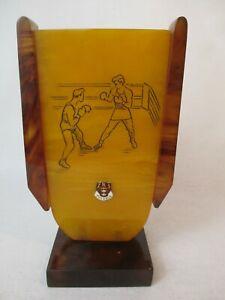 Boxen 1957 Sport Memorabilia Bakelit Catalin Pokal Danzig Gdansk Schlesien Polen