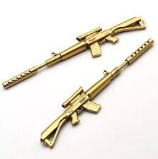 Gold Rifle Shape Black Ink Ballpoint Pen Stationery Office Ball Point Novelty