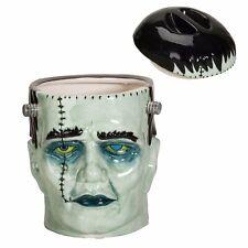 Frankenstein Head Ceramic Cookie Jar