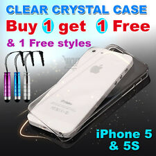 Transparent Crystal Clear Hard Plastic Case for iPhone 5 & 5s & SE