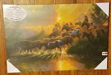 *NEW* Morning Roundup by Mark Keathley Horse Landscape LED💡 Lighted Canvas Art