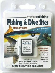 Florida St Lucie and Indian River Counties Fishing & Dive Sites Memory Card- NEW
