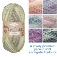 King Cole Drifter 4 Ply Premium Acrylic Cotton & Wool 100g Knitting Yarn