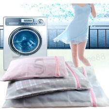 3x PREMIUM Drawstring Laundry Net Bag Wash Mesh Bra Underwear 3 SIZES Zipped