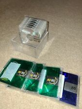 10 Memorex MD 80 Mini Discs - Crystal (Clear & Green) with cases