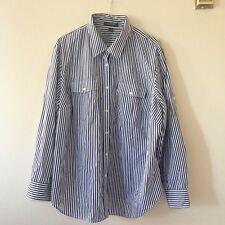 Lauren Ralph Lauren Long-Sleeve Striped Black & White Sz 2X 100% Cotton
