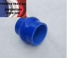 Durite Silicone Bossé 0°, SC SPORT, 80 mm int. lg.76 mm, Bleu, VENDEUR FRANCAIS