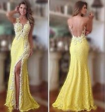 New Mermaid Backless Sleeveless Formal Evening Gowns Long Party Pageant Dresses