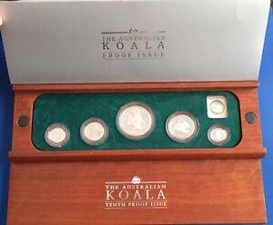 1997 Australian Koala Proof Issue 9995 Platinum 1.9oz 5 Coin Set Great Gift