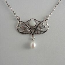 Opalschmuck Collier Opal Perle Trachten Jugendstil Retro Sterling Silber 925/-