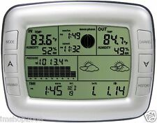 Weather forecast station with Moon Phase indoor outdoor thermometer