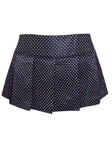 New Altnoir Sexy BLACK Polka Dot Pleated Micro Britney Mini Skirt UK S M L XL
