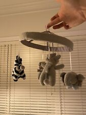 Pottery Barn Kids Gray Knit Animal Mobile Crib Mus