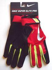 Nike Vapor Elite Pro Batting Glove Second Skin Fit Adult Medium Black/Red/Neon