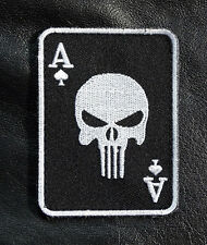 PUNISHER INFIDEL ACE SPADE DEAD MAN B/W HAND TACTICAL COMBATMORALE HOOK PATCH