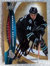 San Jose Sharks Jonathan Cheechoo Signed 2009/10 Upper Deck Trilogy Auto Card
