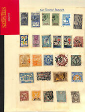 SS2978 World Revenues Fiscals India Japan etc Album page Back of Book collection