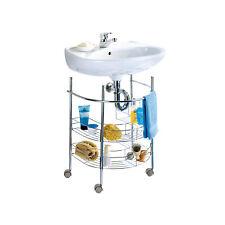 Wenko Scaffale sotto lavabo in acciaio con Ruote Serie Accessori bagno