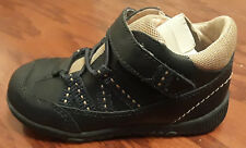 Footmates Tab 1071 infant boys navy blue leather shoes size 7
