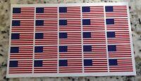 Lot of 25 Full Size Football Helmet American Flag Decals