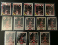 Lot of 14 - 1989 Fleer / 1990 Fleer Michael Jordan Basketball Card #21 - PSA BGS