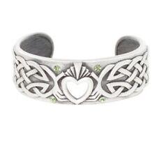 Cuff Bracelet Pewter Alloy Jewelry J135 Celtic Style Love Heart Claddagh Bangle