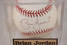 Brian Jordan #33 autographed baseball
