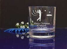 Imagen de Golf Personalizado Grabado Whisky Vidrio Abuelos Regalo De Navidad 6