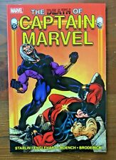 Marvel Captain Marvel DEATH OF CAPTAIN MARVEL  Starlin Englehart TPB Avengers