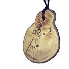Thoth  ibis Baboon Egyptian Deities God Necklace Wooden Charm Handmade pendant