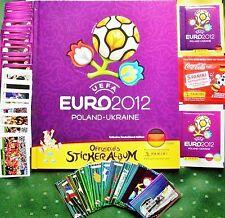 Panini Fußball EM 2012 Polen-Ukraine Komplett Satz alle 560 Sticker +Leeralbum