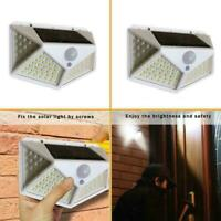 100 LED Solar Power PIR Motion Sensor Wall Lights Outdoor Lamp Waterproof R I0W9
