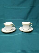 2 Lenox Eternal Dimension Cup And Saucer