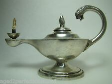 Vintage Sterling Silver Serpent Dragon Head Aladdin Lamp Cigar LIghter Sanborn