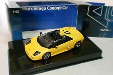 AUTO ART 1/43 - LAMBORGHINI MURCIELAGO CONCEPT CAR MET YELLOW