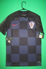 New Croatia Nike Jersey World Cup Black Blue HNS Authentic Away Small