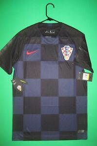 New Croatia Nike Jersey 2018 World Cup Black Blue HNS Authentic Away Small
