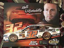 2017 Matt Dibenedetto Signed Postcard NASCAR autograph COA Hero Card Flip